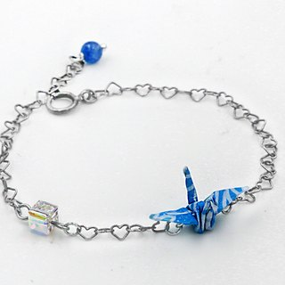 Paper crane crystal bracelet (moonlight streamer) - Christmas gifts