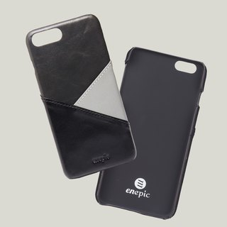Baileys - iPhone 7 Plus / iPhone 8 plus oil wax leather phone back cover - black
