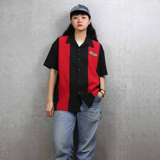 Tsubasa.Y Ancient House Bowling Shirt 005, bowling shirt, short-sleeved shirt, thin shirt