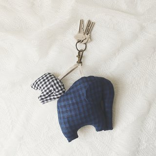 Elephant Keycharm Elephant Keychain Gift Animal Lover Gingham