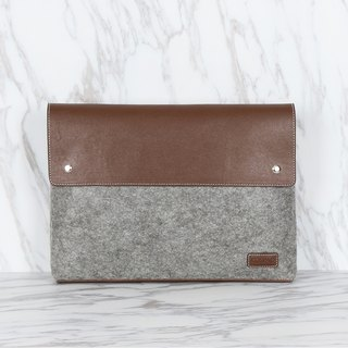 Couple design Grey Color Polyester Felt Magnetic Cover Envelope Clutch Bag
