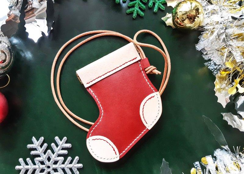 聖誕襪 好好縫 咭套 卡片套 皮革材料包 免費刻名 聖誕禮物 DIY