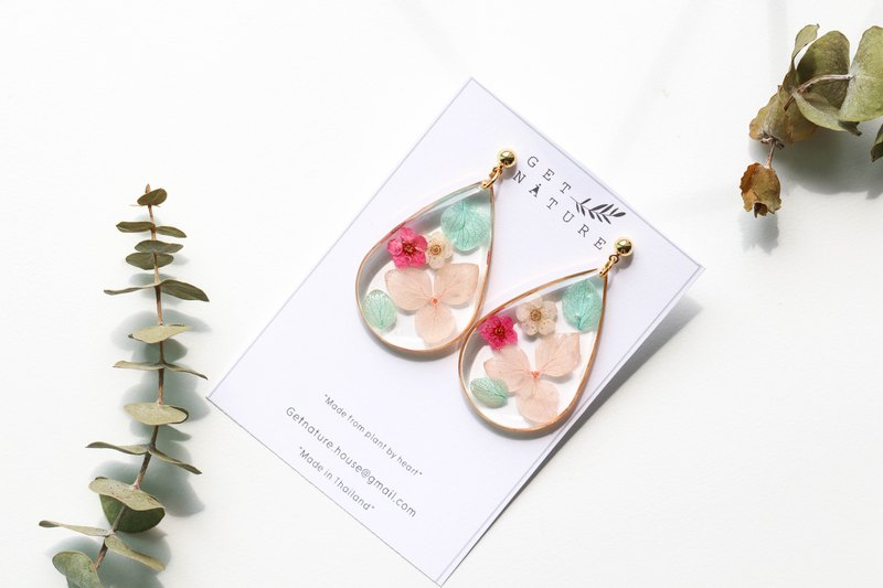 Sweet marshmallows tone - flower earring