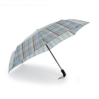 [Germany Kobold Cool Pod] Anti-UV - Super splashing business umbrella - Automatic umbrella - light blue plaid