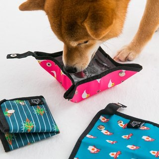 【Clip-On】 Foldable Collapsible Travel Pet Bowl - Bacon Breakfast