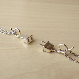 Plug and outlet pair necklace