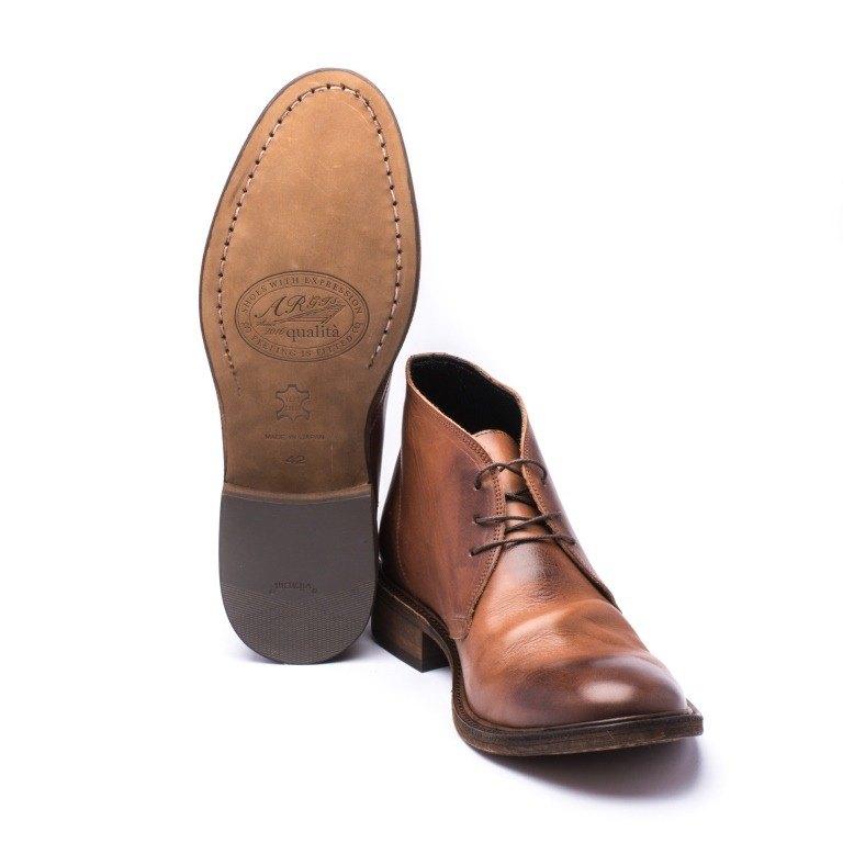 ARGIS Vibram leather sole desert boots  22344深咖啡-Japan handmade - Designer  ARGIS Japan Handmade Leather Shoes  3f68d5e753d