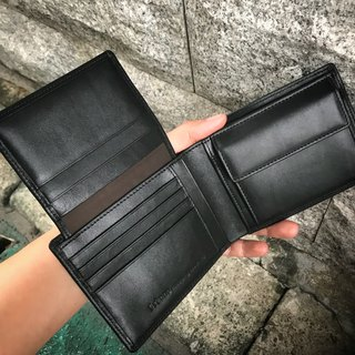 Sienna leather can hold a driver's license short wallet