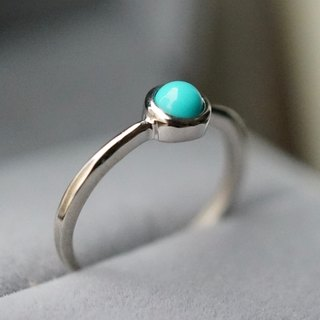 ITS-R103 [ring series, turquoise, turquoise, Turkish stone] 925 silver ring.