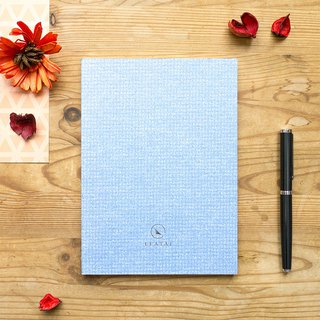 Marshmallow Classic Checkered Notebook - Cloud Blue