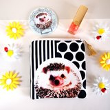Hedgehog coin case,Hedgehog coin pouch,Hedgehog zip pouch, Hedgehog key case, Hedgehog Purse,Hedgeho..