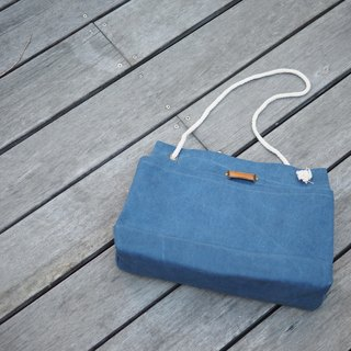 """Summer Bag"" Summer package beach bags oblique Me Bag Navy"