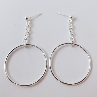 Zo.craft hanging big ring earrings / 925 sterling silver