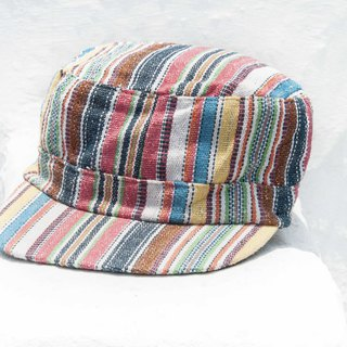 Cotton hat cap cap woven hat fisherman hat visor handmade cap sports cap - rainbow stripe wind