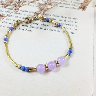 The candy in the window _ bracelet purple jade brass