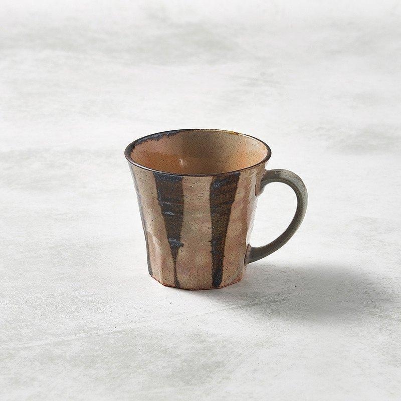 有種創意 - 日本美濃燒 - 寬耳馬克杯 - 樹紋