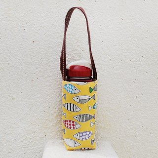 Color small fish bottle bag _ yellow / beverage bag