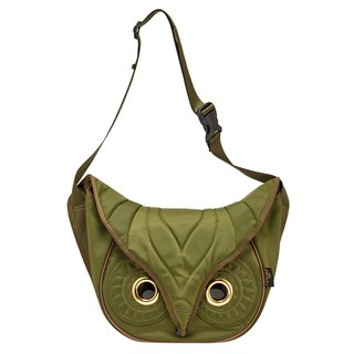 Morn Creations genuine classic owl shoulder bag size S - Green (OW-202-GN)
