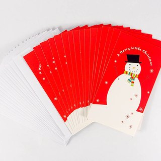 Happy Snowman Christmas Box Card 16 [DaySpring-Card Christmas Series]