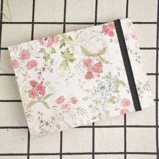 Handmade notebook with flower paper cover