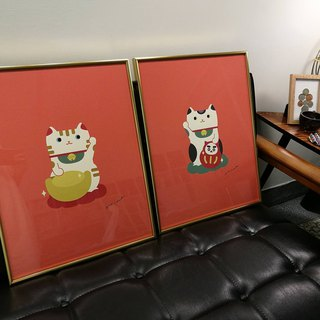 Hime's cats hi cats [Lucky Cat] hanging paintings