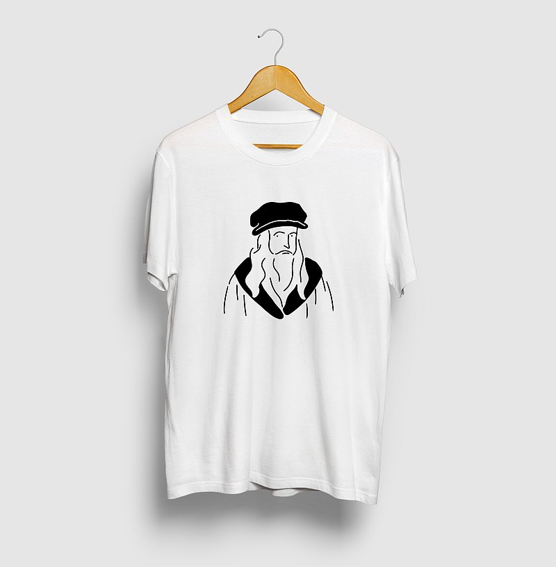 Leonardo Davinci Illustration T-shirt