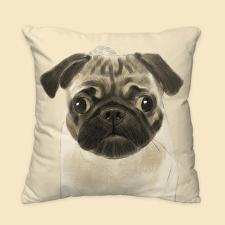 [I will always love you] classic pug dog animal pillow / pillow / cushion