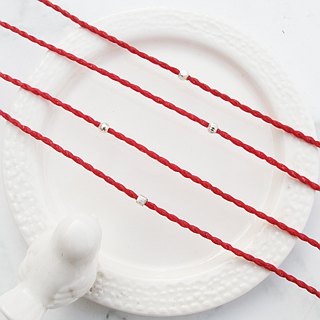 Big staff Taipa [monthly series] edge pull × red line wax rope bracelet × hexagonal beads suitable for no target
