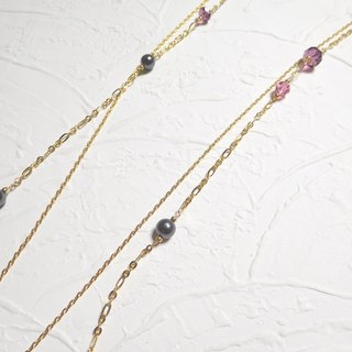 Gorgeous asymmetrical Swarovski double long-chain