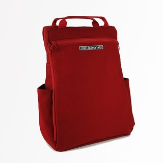 Classic Excellence - Detailed Textured Backpack - Classic Red