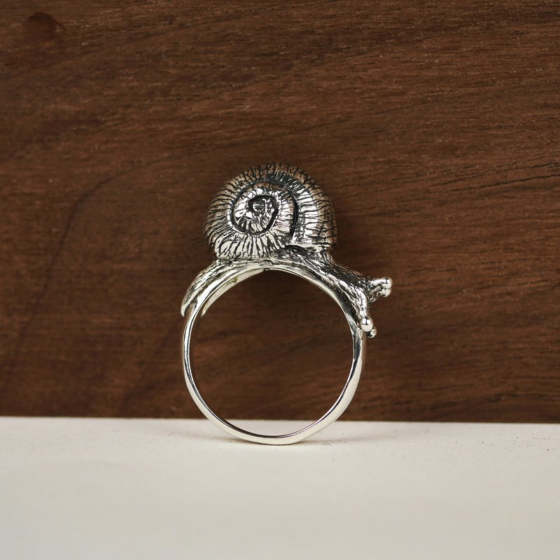 Snail ring sterling silver