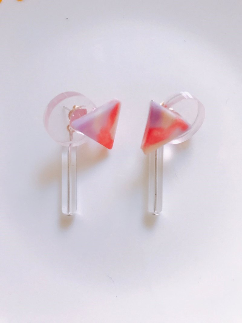 Transparent generation dangle earrings