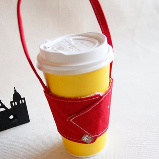 Cotton Fabric: Cup Sleeve, Red canvas