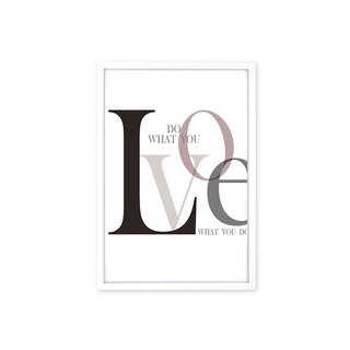 HomePlus Decorative Frame Do What You Love Fashion White 63x43cm Wall Decor