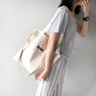 Cross Press Classic Logo - Canvas Tote Double Back