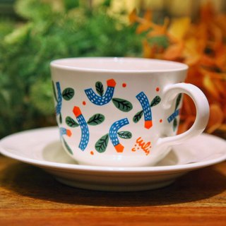 Swing Flower Tea Cup (White)