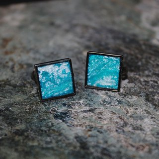 Midnight Paris - spring soft pottery clip earrings