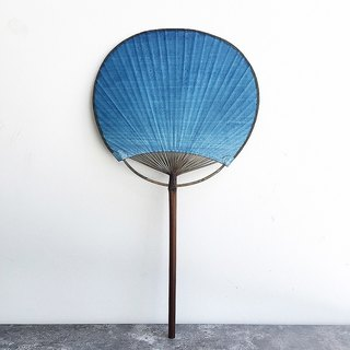 [years] when the age of the trees dyed blue dye students Xuan bamboo paper fan blue gradient
