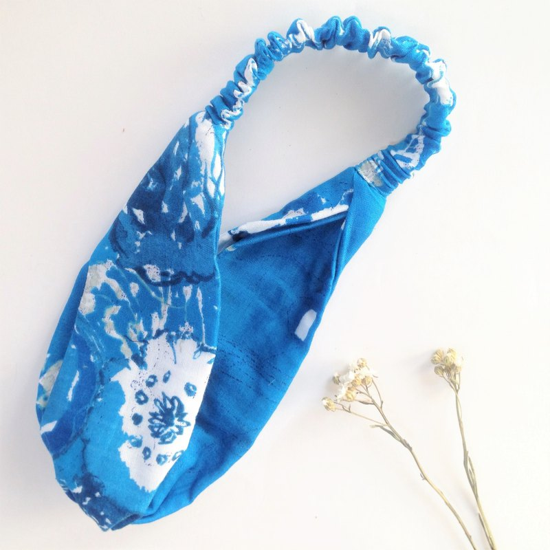 Spray - Japanese flower limited edition Japanese cotton yarn - a thousand morning Shirakawa manual elastic hair band