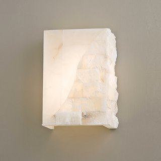 Square double spelling alabaster light wall lamp