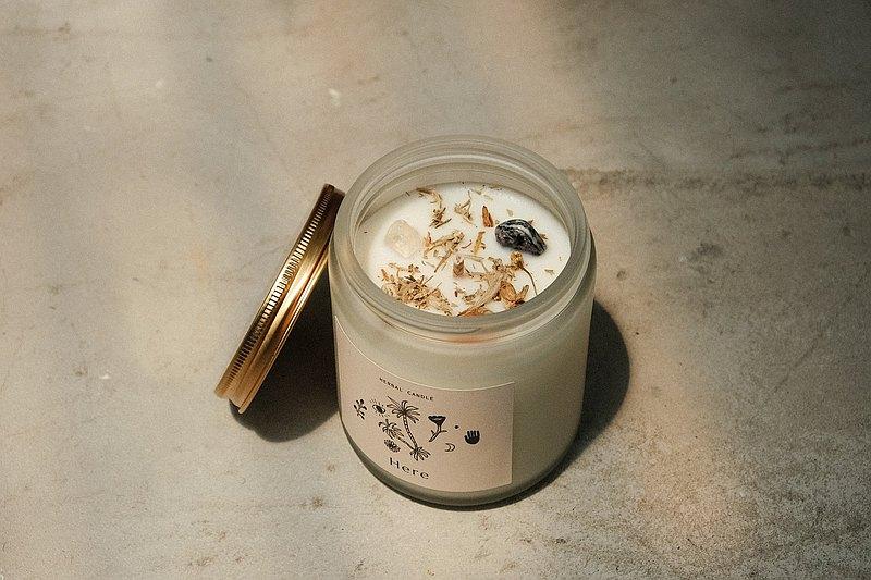 CLEAR&CREATE 水晶花草能量香氛蠟燭145g 藍鼠尾草