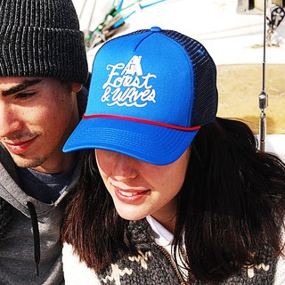 Forest & Waves truck cap / blue