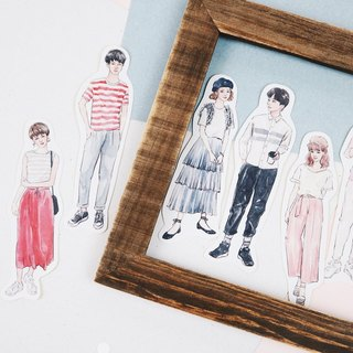 bonbon girls sticker set - couple's outfit II (8 into)