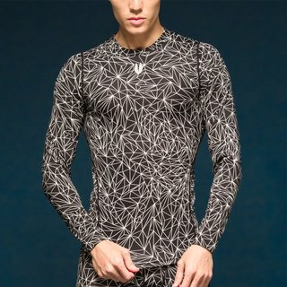 Skin Zero 1 Aeon heart long sleeve pressure garment - Stardust son Starlight Black