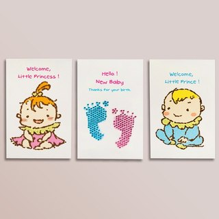 [] GFSD Rhinestone Collectibles - Hand births card - Hello baby!