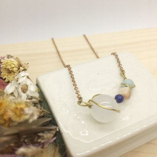 Laolin Groceries l Cool - Agate - Pink Shell - Lapis - Tianhe Stone - Natural Stone Handmade Short Necklace