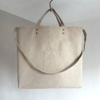 "Linen AlphaBAG custom order ""e"""