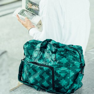 Gifts ,Design, Go Travel, Trendy, Water Repellent Foldable Duffel Bag -- Green
