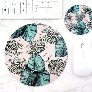 Natural Mouse pad Tropical Monstera Desk Decor For Women