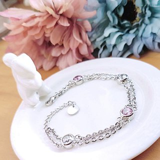 [Value-for-money] beautiful mood white steel bracelet crystal diamond zircon is not afraid of water does not change color
